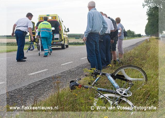 Foto behorende bij Ongeval met motorrijder en fietser