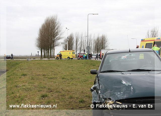 Foto behorende bij Aanrijding op de N215 bij Dirksland