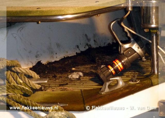 Foto behorende bij Scheepsbrand in Middelharnis