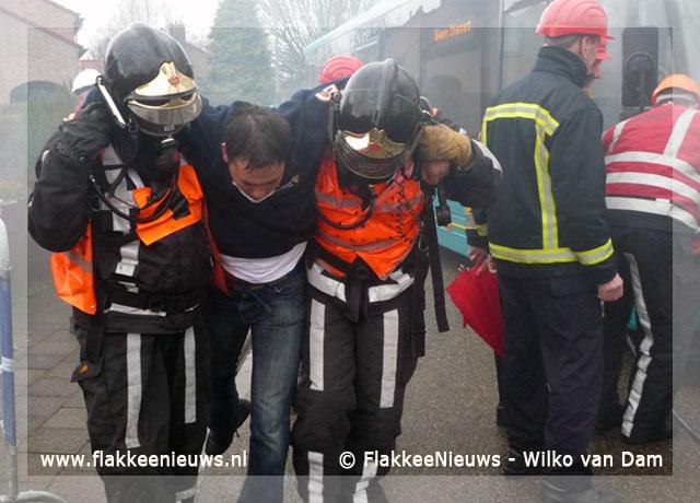 Foto behorende bij Dirksland eerste bij provinciale brandweerwedstrijd