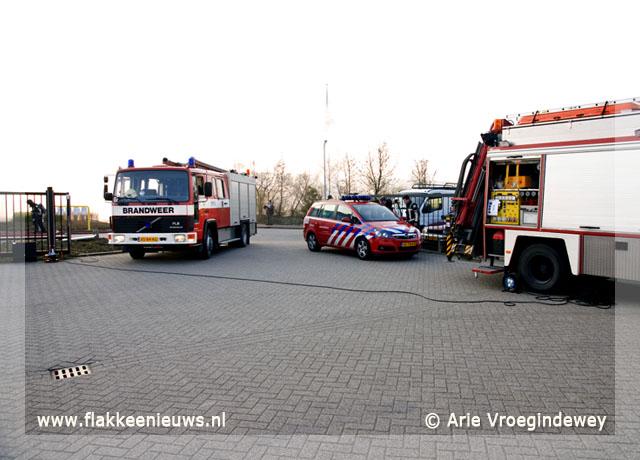 Foto behorende bij Brand in kantoorpand op Watertorenpark Dirksland