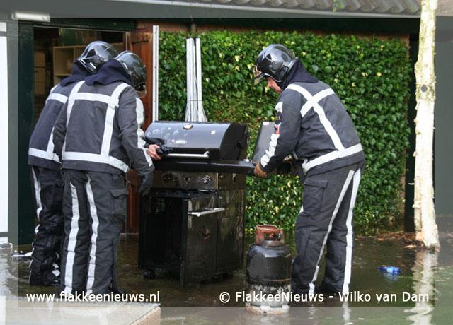 Foto behorende bij Barbecue in brand