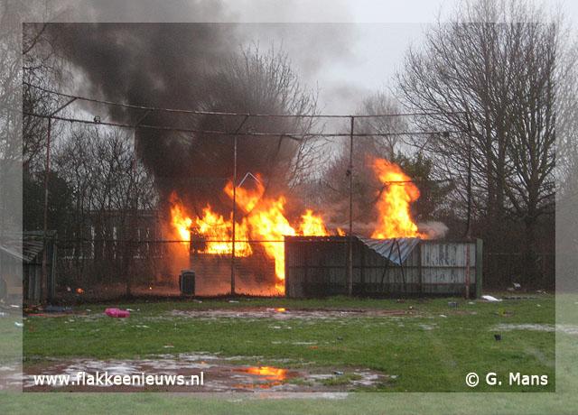 Foto behorende bij Clubgebouw uitgebrand
