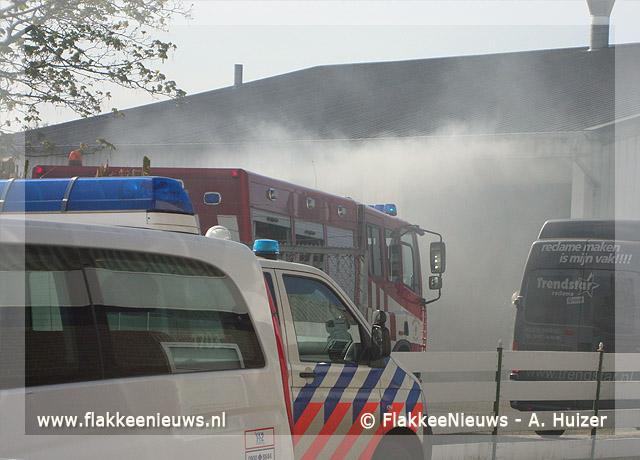 Foto behorende bij Brand bij reclamebedrijf in Middelharnis