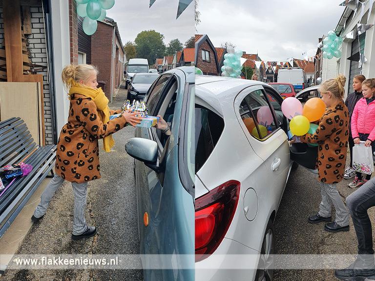 Foto behorende bij 11-Jarige Jaylinn uit Middelharnis krijgt drive-thru verjaardagsfeest