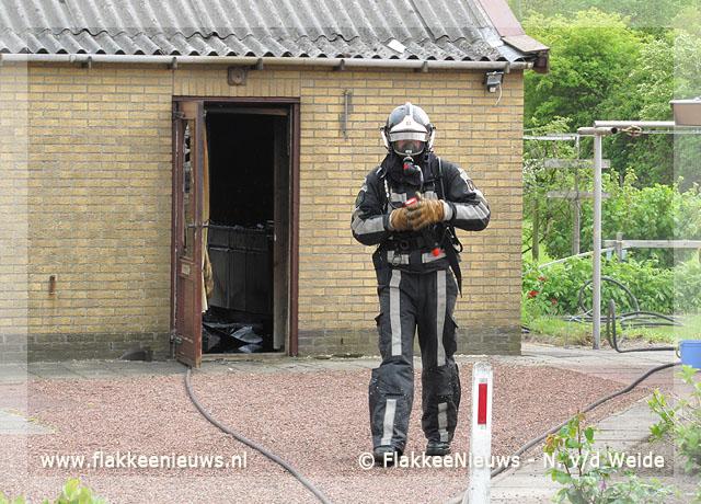 Foto behorende bij Brand in schuur bij Ouddorp