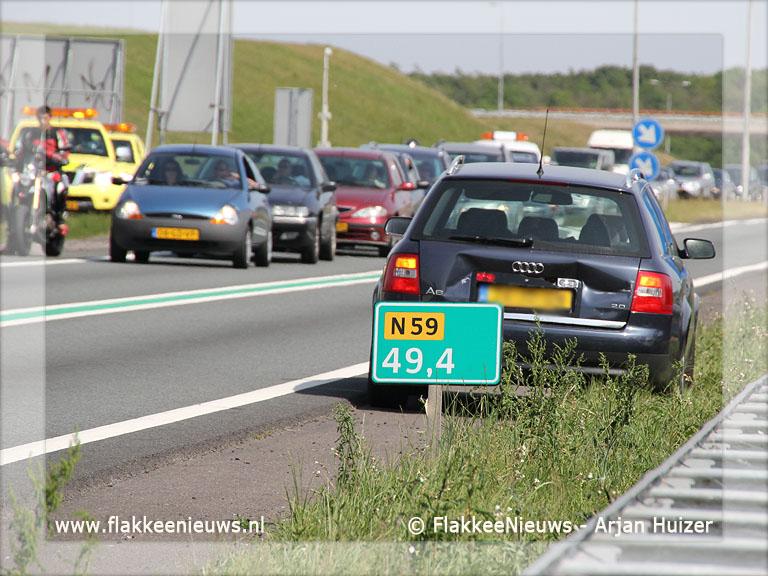 Foto behorende bij Ongeval N59 zorgt voor file