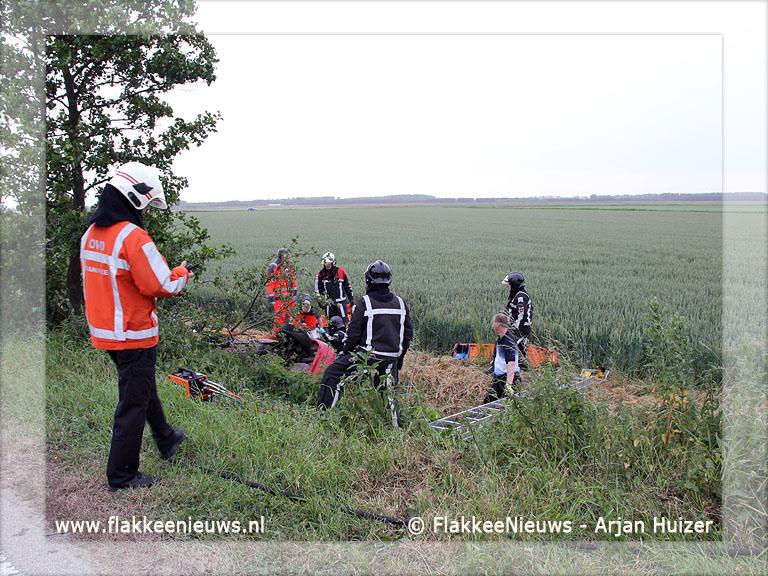 Foto behorende bij Hulpdiensten bevrijden slachtoffer uit benarde positie (update)