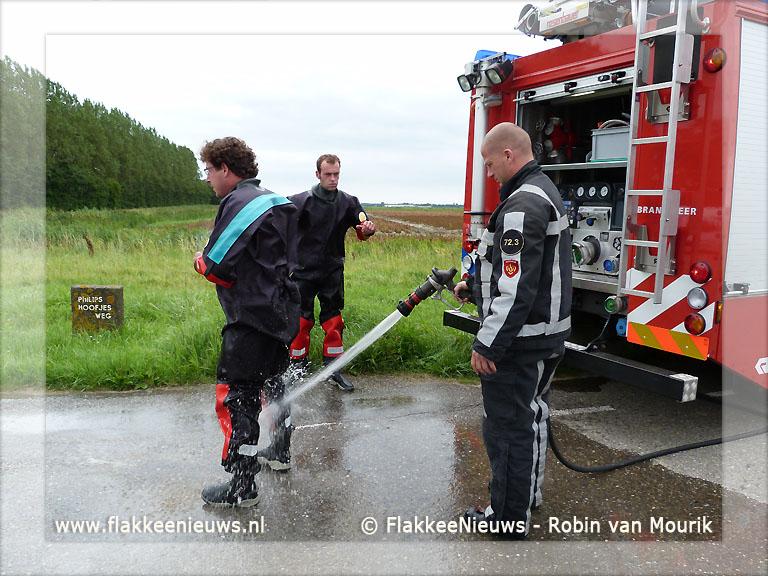 Foto behorende bij Auto te water in Dirksland