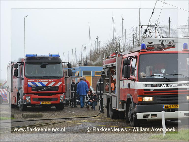 Foto behorende bij Scheepsbrand in Herkingen