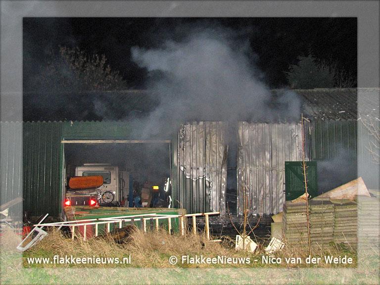 Foto behorende bij Brand in schuur Sommelsdijk