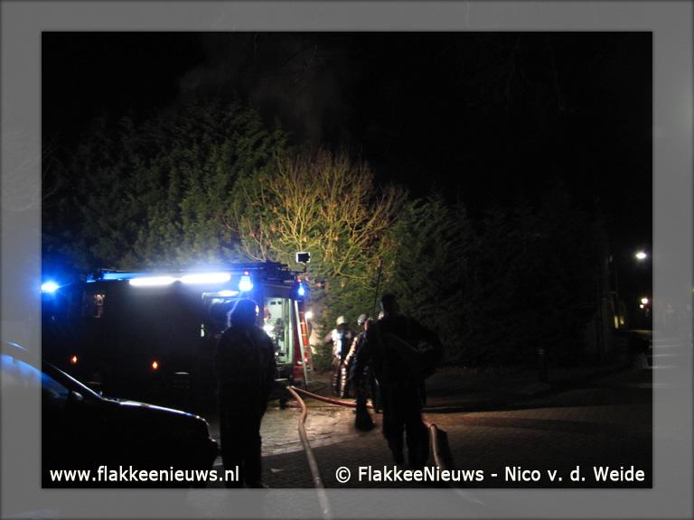 Foto behorende bij Uitslaande brand Dirksland snel geblust