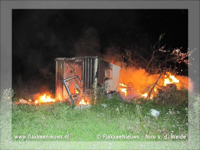 Foto behorende bij Buitenbrand aan Zuidelijke Randweg Middelharnis