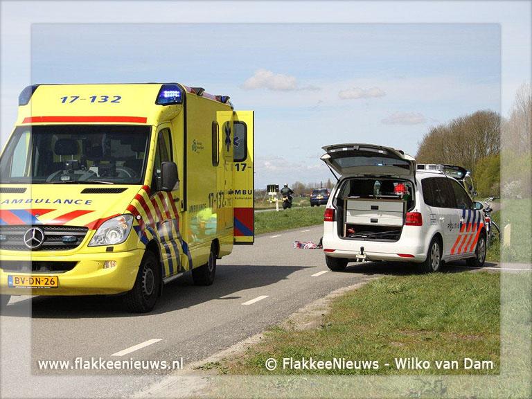 Foto behorende bij Fietser geschept parallelweg N215