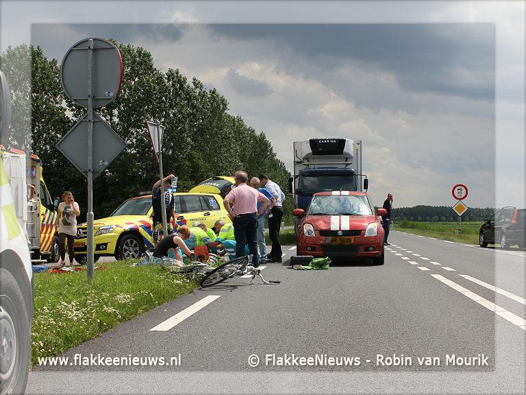 Foto behorende bij Fietser ernstig gewond na aanrijding