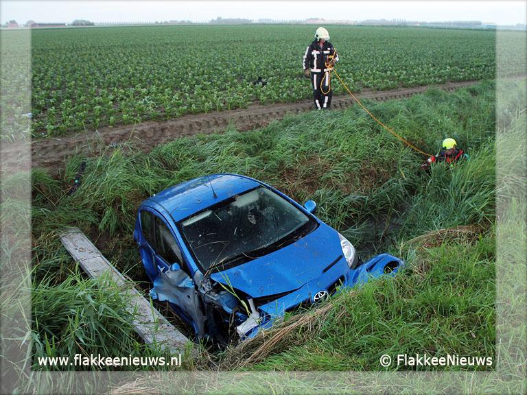 Foto behorende bij Bestuurder auto in de sloot onvindbaar