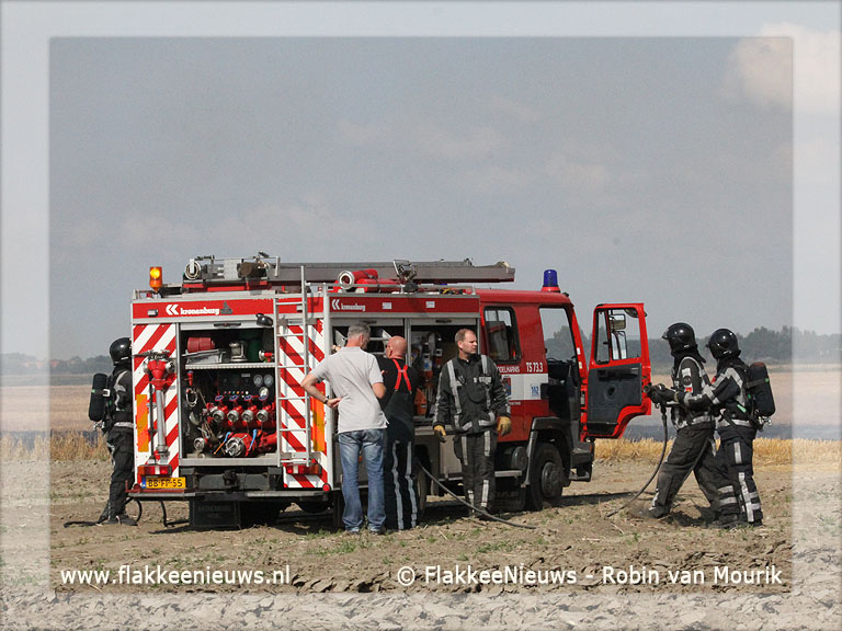Foto behorende bij Brand op het land bij Nieuwe-Tonge