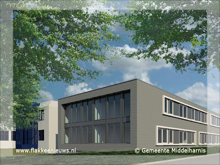 Foto behorende bij Eerste paal gemeentehuis Goeree-Overflakkee