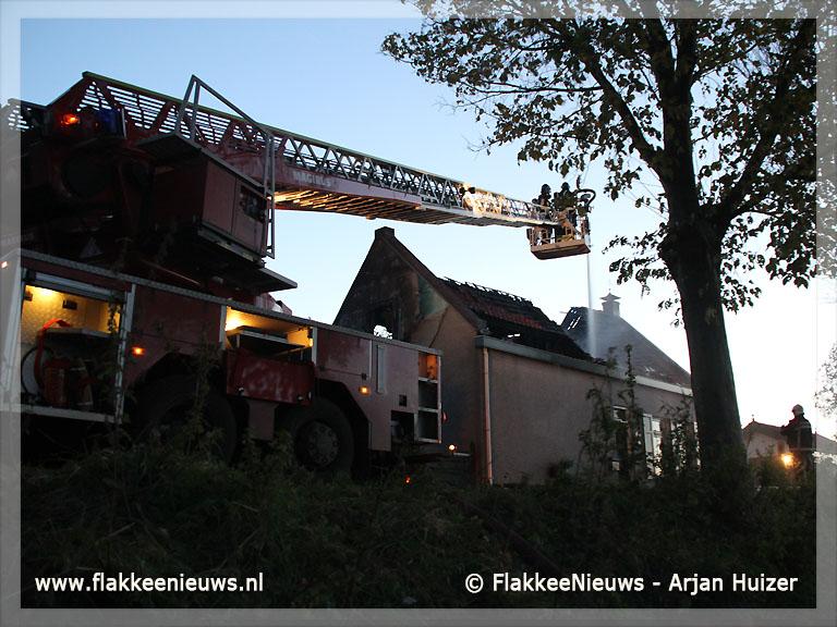 Foto behorende bij Brand in woonhuis Zuidzijde