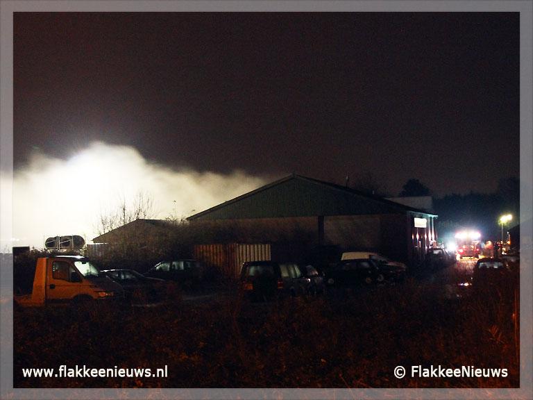 Foto behorende bij Drugslab ontdekt bij brandmelding Middelharnis