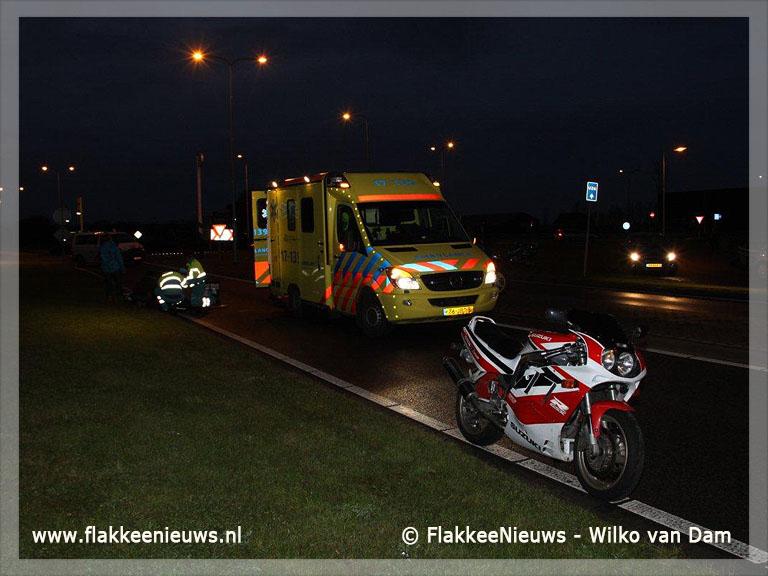 Foto behorende bij Motorrijder gewond door eenzijdig ongeval