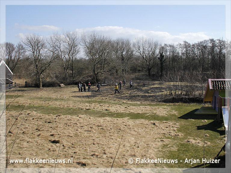 Foto behorende bij Handen vol aan buitenbrand Ouddorp