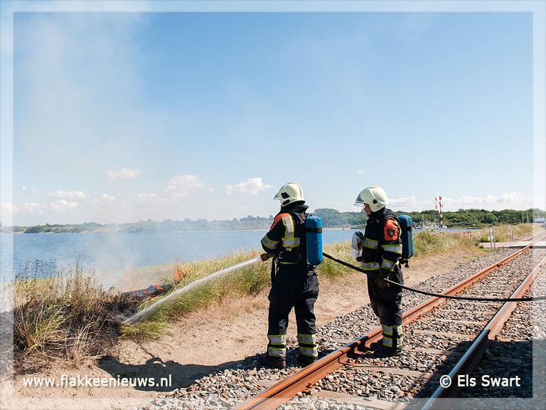 Foto behorende bij Bermbrand langs het spoor