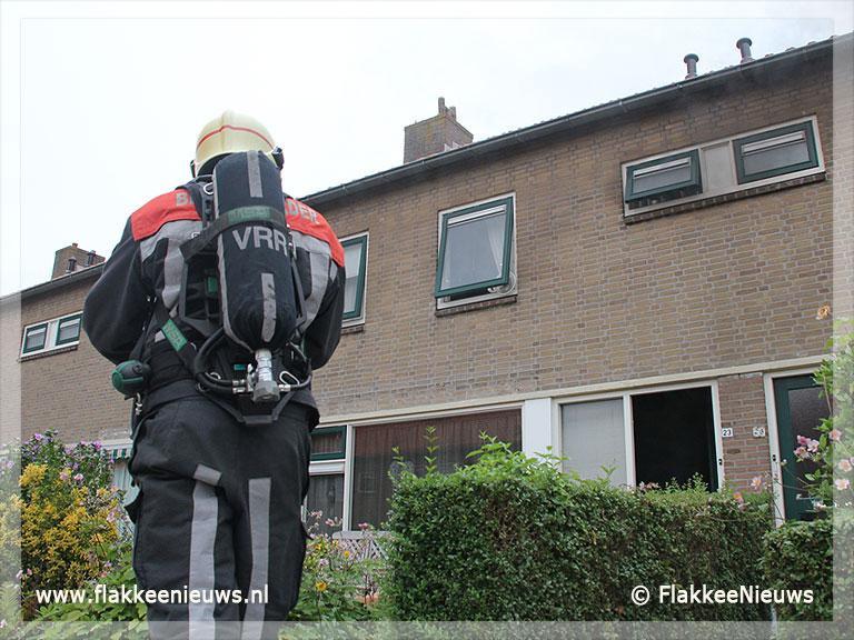 Foto behorende bij Brandweer voorkomt grote woningbrand