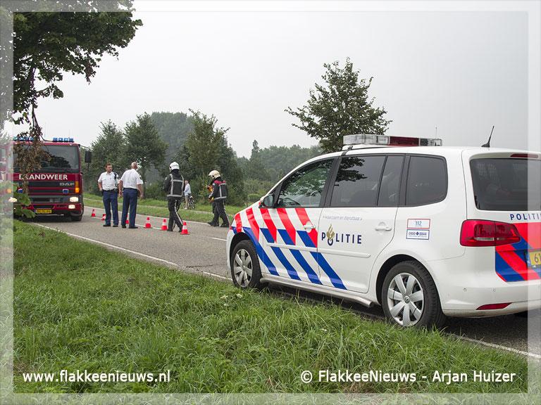 Foto behorende bij Auto van de dijk bij Sommelsdijk