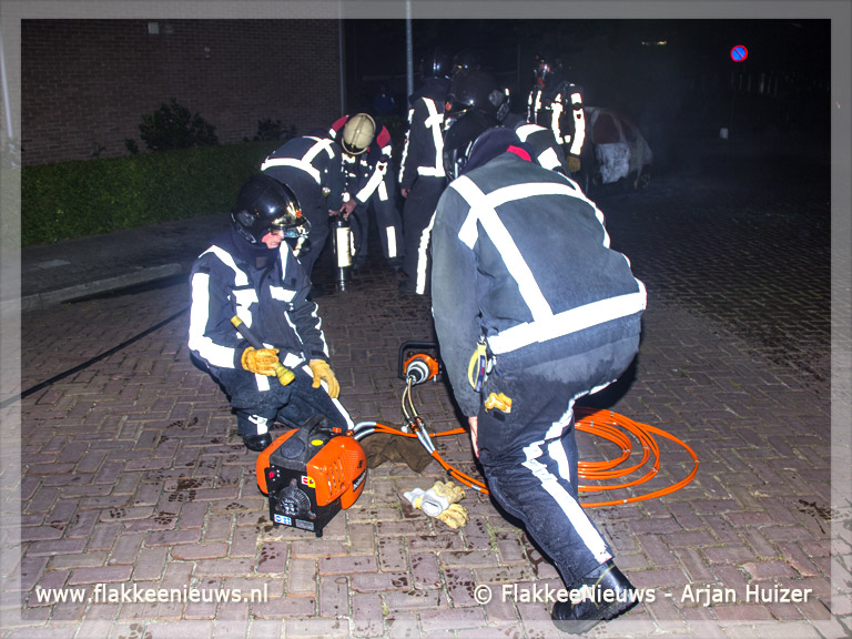 Foto behorende bij Autobranden in Sommelsdijk