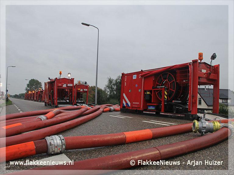 Foto behorende bij Pompen spektakel bij Stellendam en hinder N215