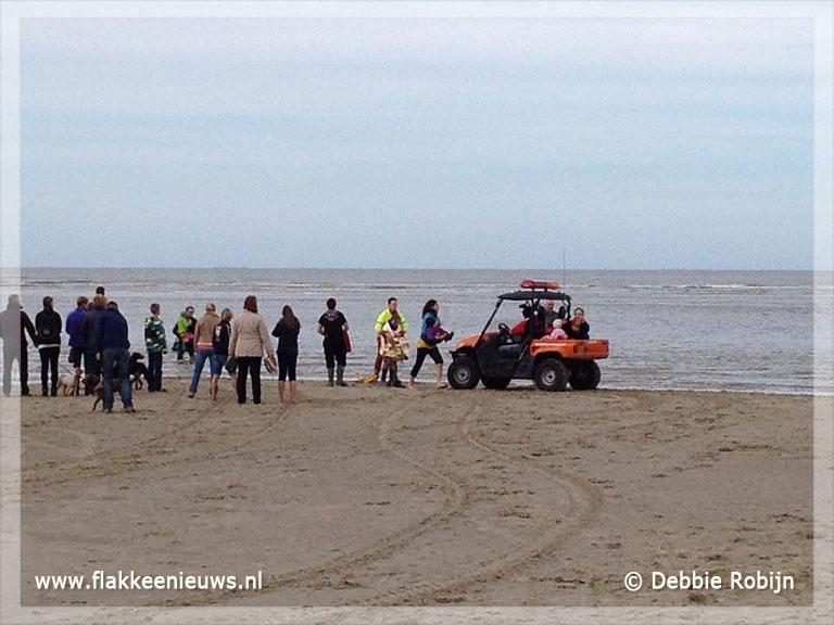 Foto behorende bij Gezin verrast door snel opkomend water