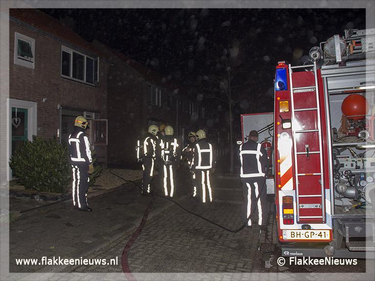 Foto behorende bij Brand in woonhuis Dirksland