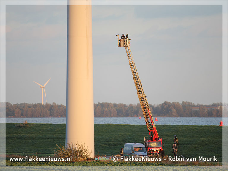 Foto behorende bij Slachtoffers bij brand in windturbine