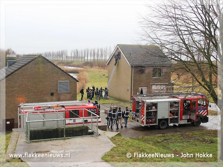 Foto behorende bij Gebouwbrand Heerendijk Oude-Tonge
