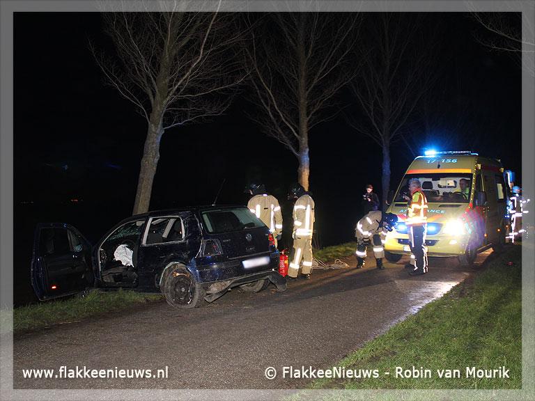 Foto behorende bij Eenzijdig ongeval bij Achthuizen