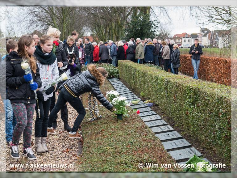 Foto behorende bij Herdenking Watersnoodramp weer druk bezocht