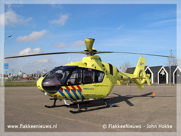 Foto behorende bij Traumaheli vliegt voor ongeval met brommer