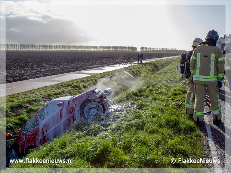 Foto behorende bij Automobilisten ontsnapt aan ernstig letsel