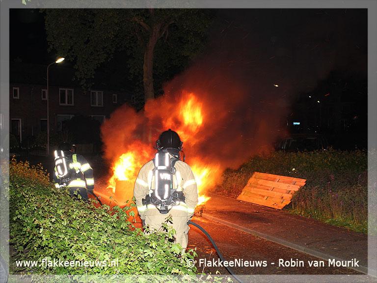 Foto behorende bij Diverse brandjes in Koningsnacht