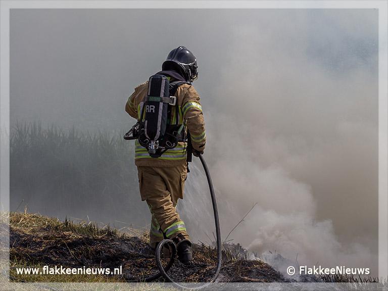 Foto behorende bij Een bermbrand is zo ontstaan