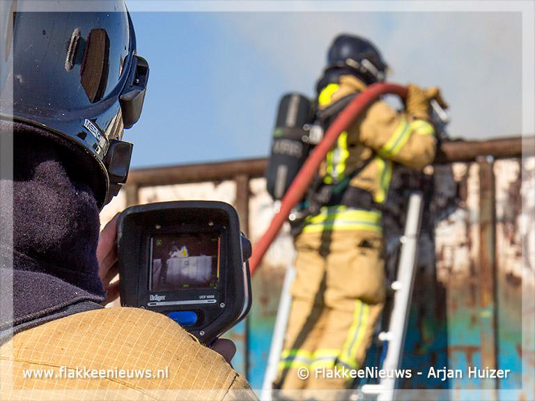 Foto behorende bij Aanhanger in brand
