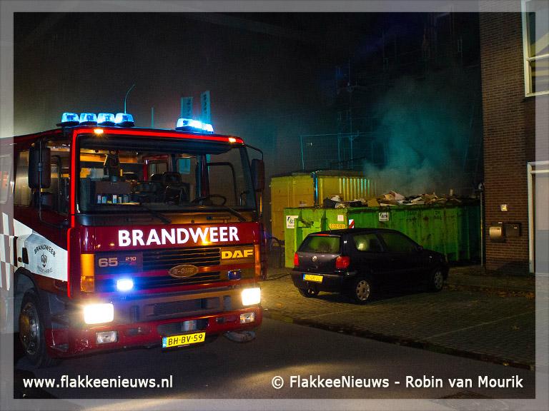 Foto behorende bij Containerbrand en schaap in de sloot