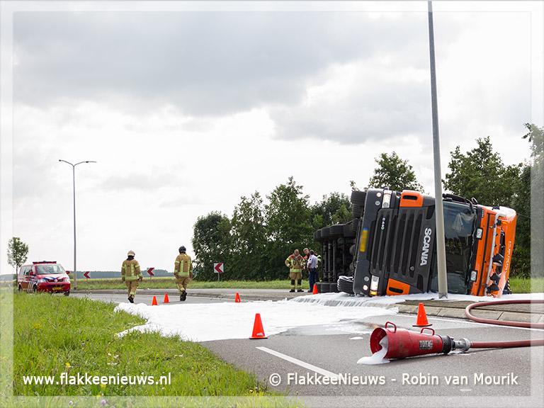 Foto behorende bij Vrachtwagen geschaard op de Zuidelijke Randweg