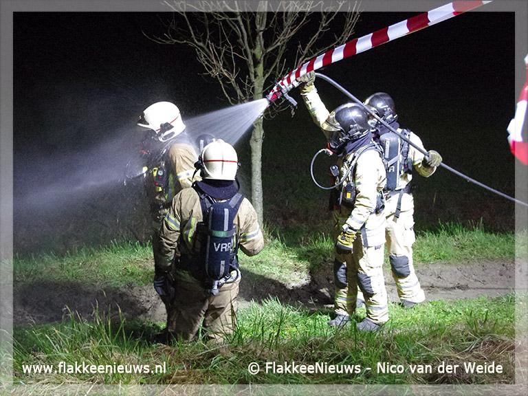 Foto behorende bij Asbest vrijgekomen bij schuurbrand Goedereede