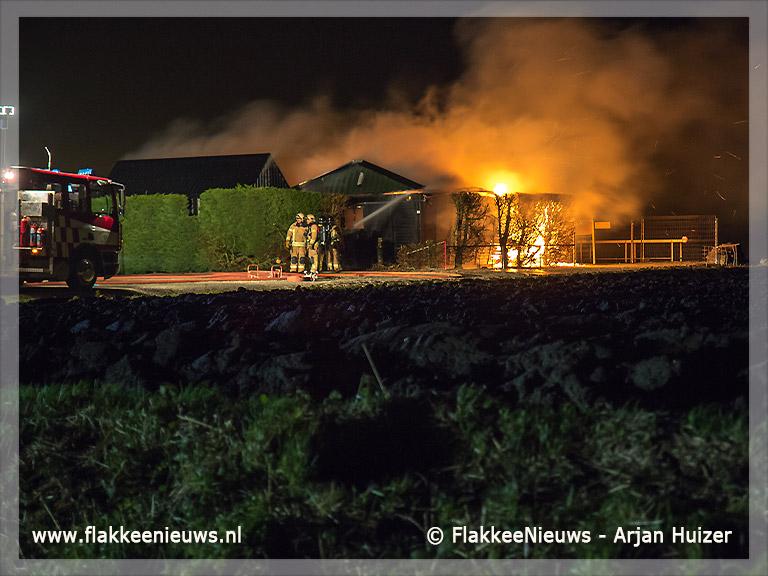 Foto behorende bij Gebouw modelvliegclub Middelharnis uitgebrand