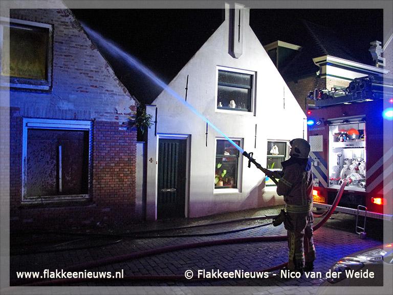 Foto behorende bij Brand in renovatiewoning Dirksland