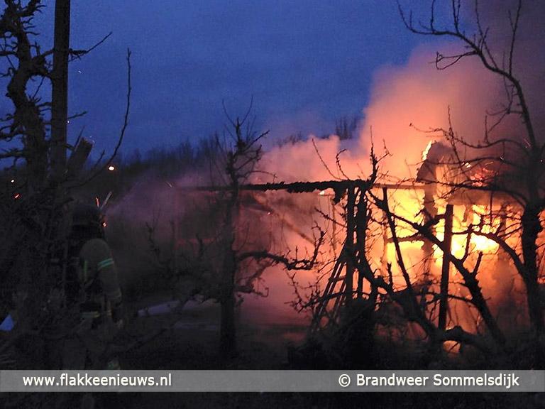 Foto behorende bij Schuurtje in brand langs N215