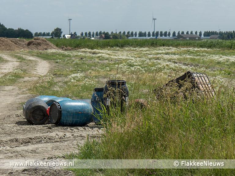 Foto behorende bij Drugsafval gevonden nabij Ooltgensplaat
