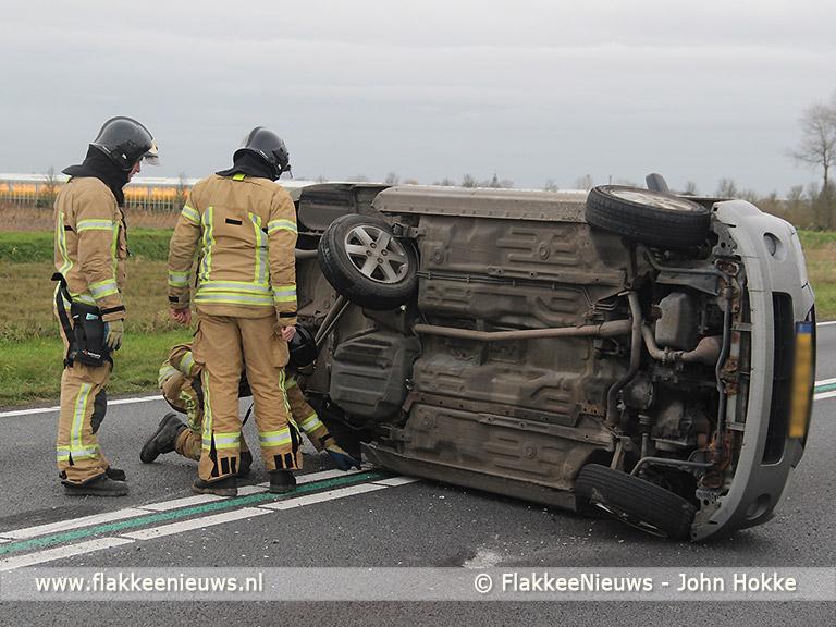 Foto behorende bij Aanrijding op de N59 nabij Oude-Tonge